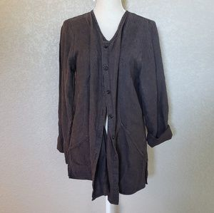 FLAX button down Cardigan 100% Linen